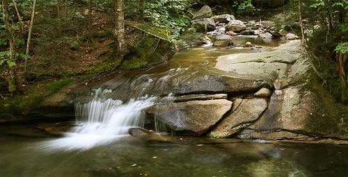 the Basin in Franconia Notch State Park - NH
