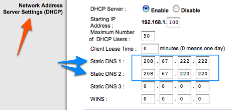 change dns servers on linksys router