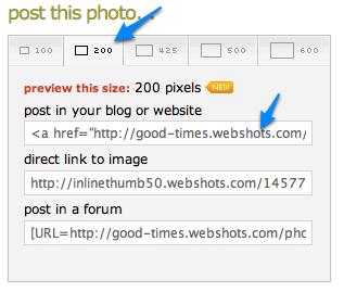 webshots will create the html code