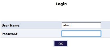 Log in as admin