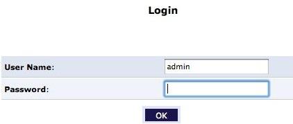 Log in as admin