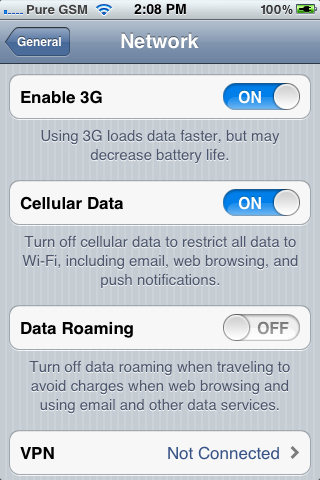 can't find apn settings on my iphone