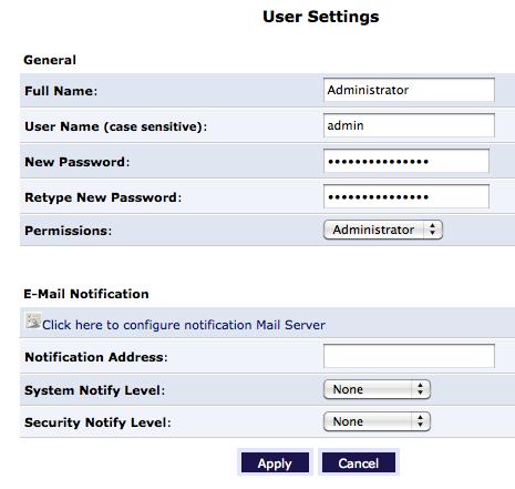 change your admin password